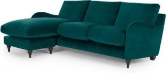 An Image of Sofia Chaise End, Velvet Plush Mallard