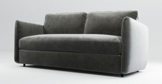 An Image of Custom MADE Fletcher 3 Seater Sofabed with Pocket Sprung Mattress, Steel Grey Velvet