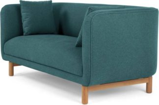 An Image of Becca 2 Seater Sofa, Mineral Blue