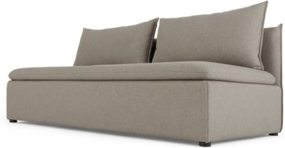 An Image of Victor Modular Sofa Storage Double Seat, Portland Grey