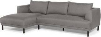An Image of Bowery Left Hand Facing Chaise End Corner Sofa, Fossil Grey