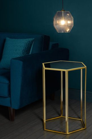 An Image of Alveare Brass and Mirror Side Table
