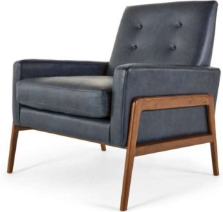 An Image of Cecil Armchair, Oxford Blue Premium Leather