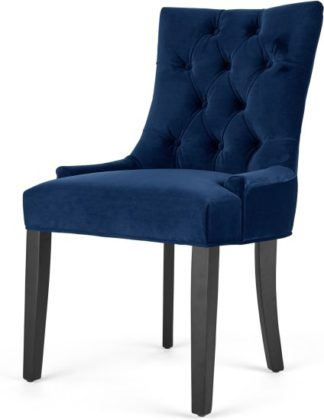 An Image of Flynn Scoop Back Chair, Royal Blue Velvet