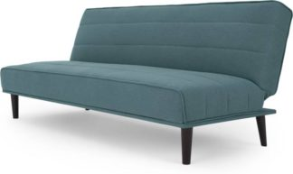 An Image of MADE Essentials Kitto Click Clack Sofa Bed, Sherbet Blue