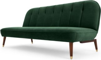 An Image of Margot Click Clack Sofa Bed, Pine Green Velvet