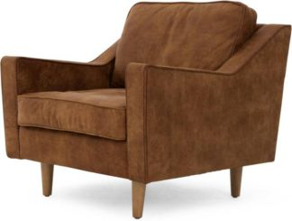 An Image of Dallas Armchair, Outback Tan Premium Leather