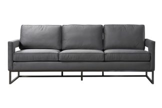 An Image of Kenza Three Seat Sofa – Dove Grey