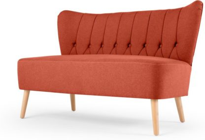An Image of Charley 2 Seater Sofa, Retro Orange