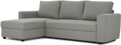 An Image of Aidian Corner Storage Sofa Bed, Silver Grey