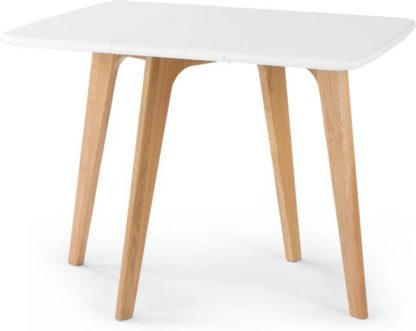 An Image of Fjord 2-4 Seat Rectangular Gateleg Table, Oak and White