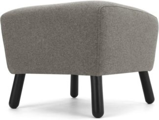 An Image of Rubens Footstool, Nickel Grey