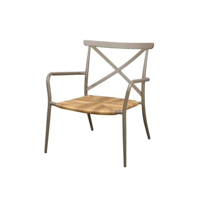An Image of Milos Taupe Armchair