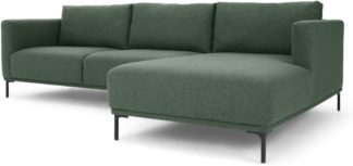An Image of Milo Right Hand Facing Chaise End Corner Sofa, Darby Green