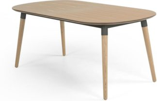 An Image of Edelweiss 6-8 Seat Oval Extending Dining Table, Ash and Grey