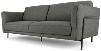 An Image of Everson 3 Seater Sofa, Shuttle Grey