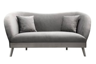 An Image of Lapio Two Seat Sofa - Dove Grey