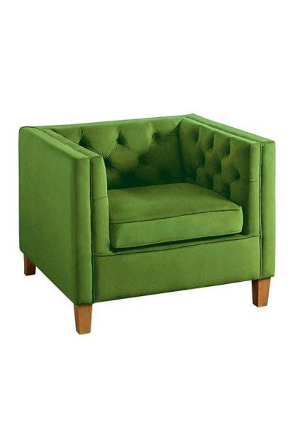 An Image of Miasto Armchair Emerald Green Velvet