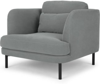 An Image of Herman Armchair, Finch Grey Cotton
