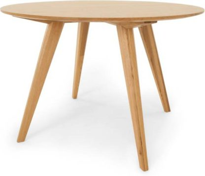 An Image of Aveiro Round Dining Table, Oak