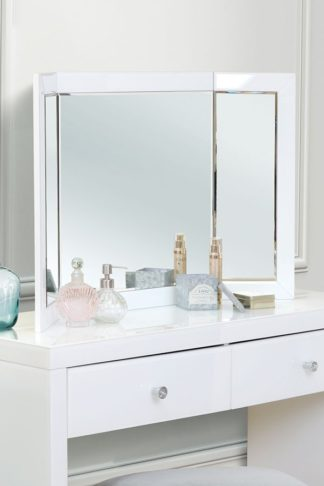 An Image of COLLETA White Triple Folding Mirror