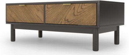 An Image of Belgrave Storage Coffee Table, Dark Stained Oak