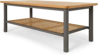 An Image of Reema Coffee Table, Oak and Grey