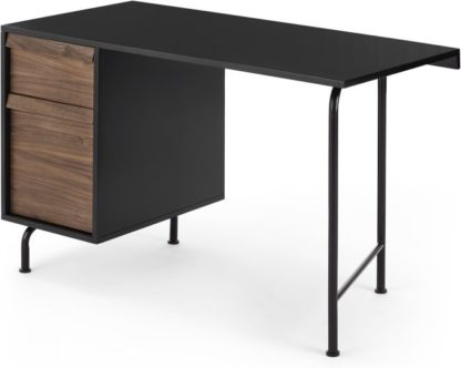 An Image of Milford Desk, Black and Walnut