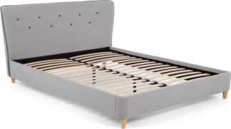 An Image of Burcot King Size Bed, Contrast Grey