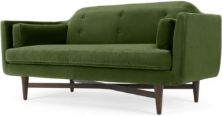An Image of Imani Large 2 Seater Sofa, Grass Cotton Velvet