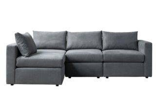 An Image of Miller Three Seat Corner Sofa - Left or Right Hand – Charcoal