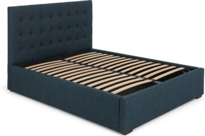 An Image of Finlay King Size Bed with Storage, Jupiter Blue