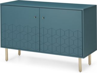 An Image of Hedra Sideboard, Teal and Brass