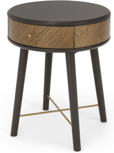 An Image of Belgrave Side Table With Drawer, Dark Stained Oak