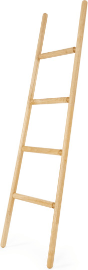 An Image of Robin Wood Towel Storage Ladder, Natural Wood