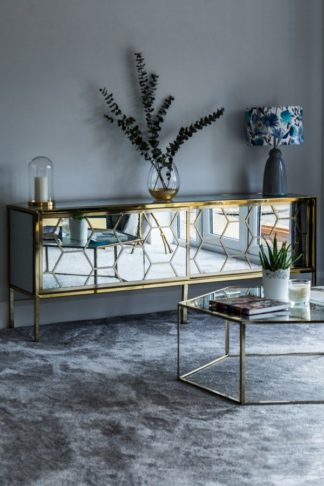 An Image of Alveare Brass and Mirror Sideboard