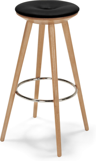 An Image of Kitson Barstool, Natural Wood and Black