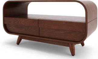 An Image of Esme Compact TV Stand, Dark Stain Ash