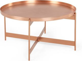 An Image of Magda Coffee Table, Brushed Copper