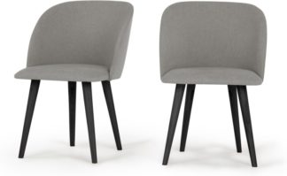 An Image of Set of 2 Stig Dining Chairs, Manhattan Grey and Black