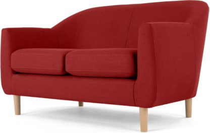 An Image of Tubby 2 Seater Sofa, Postbox Red