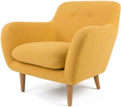 An Image of Dylan Armchair, Yolk Yellow