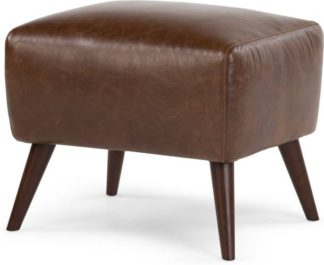 An Image of Prado Footstool, Antique Cognac Leather