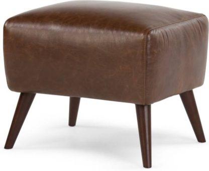 An Image of Prado Footstool, Antique Cognac Leather