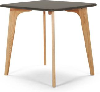 An Image of Fjord 4 Seat Square Compact Dining Table, Oak and Grey