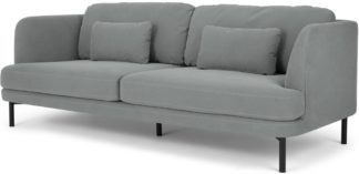 An Image of Herman 3 Seater Sofa, Finch Grey Cotton