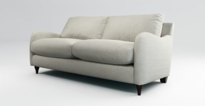 An Image of Custom MADE Sofia 2 Seater Sofa, Plush Silver Velvet