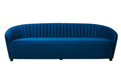 An Image of Alice Three Seat Sofa - Navy Blue