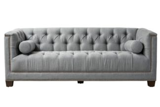 An Image of Bankes Three Seat Sofa - Charcoal