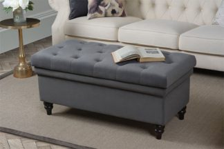 An Image of Bursnell Upholstered Ottoman - Smoke